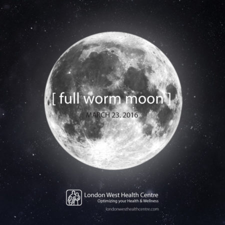 Full worm moon and parasite activity by Dr. Robert Dronyk - London West Health Centre